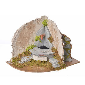 Nativity fountain with pump, corner, 20x14x15cm s1