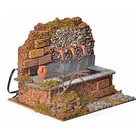 Antique nativity fountain with 3 streams 24x12x19cm s2
