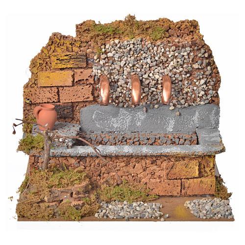 Antique nativity fountain with 3 streams 24x12x19cm 1