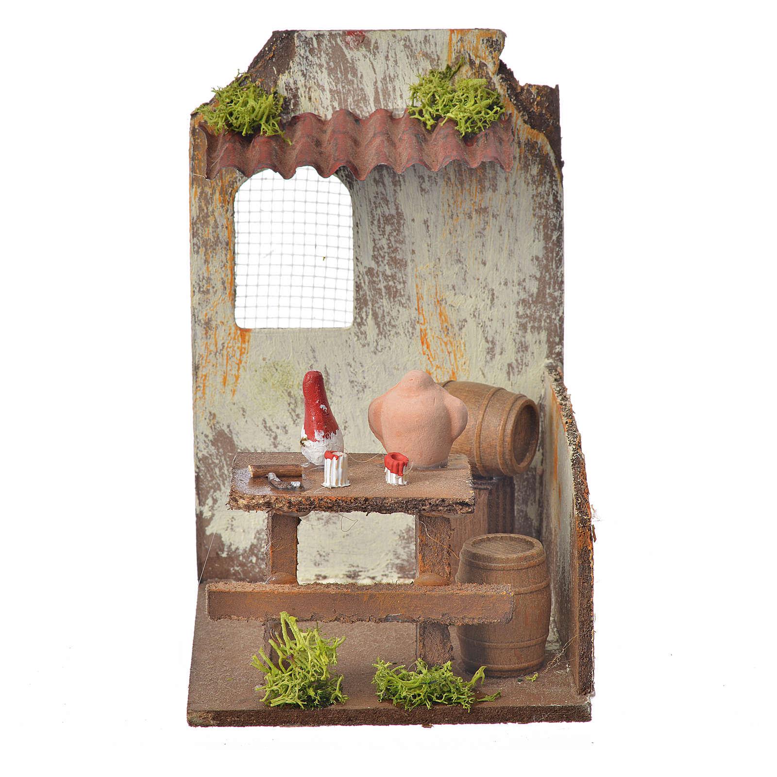 Nativity setting, wine maker's workshop 15x9,5x9,5cm 4
