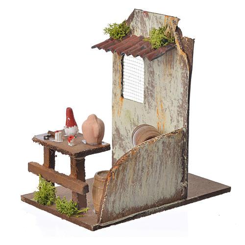 Nativity setting, wine maker's workshop 15x9,5x9,5cm 3