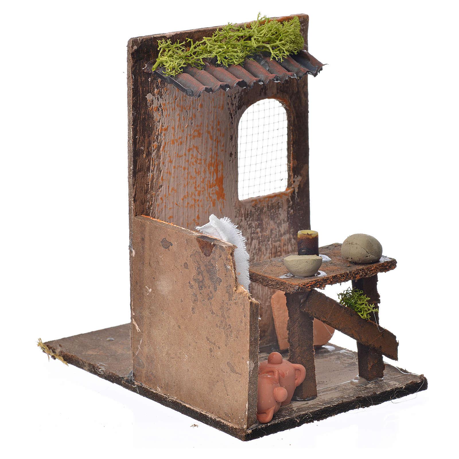 Décor crèche atelier du potier 15x9,5x9,5cm 4