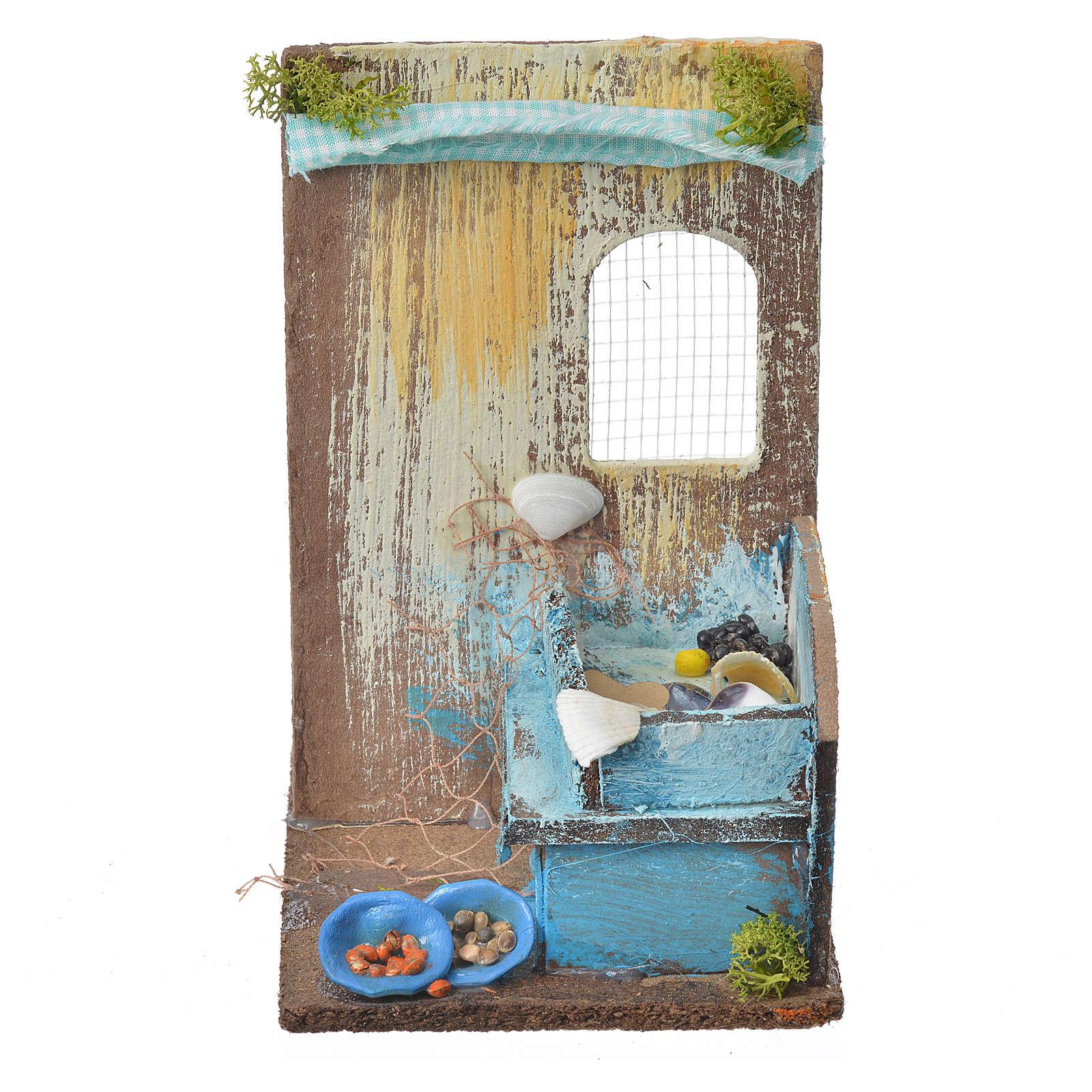 Nativity setting, fishmonger's shop 15x9,5x9,5cm 4