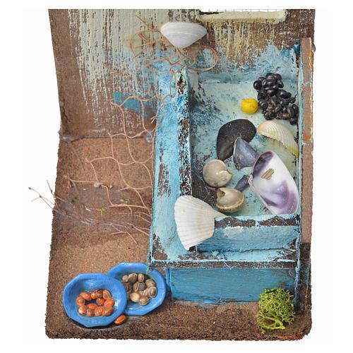 Nativity setting, fishmonger's shop 15x9,5x9,5cm 3