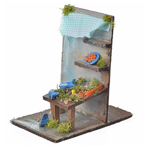 Bottega pescivendolo presepe cm 15x9,5x9,5 2