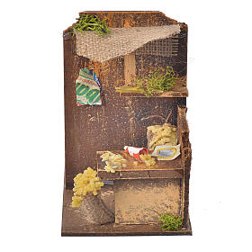 Settings, houses, workshops, wells: Nativity setting, pasta maker workshop 15x9,5x9,5cm