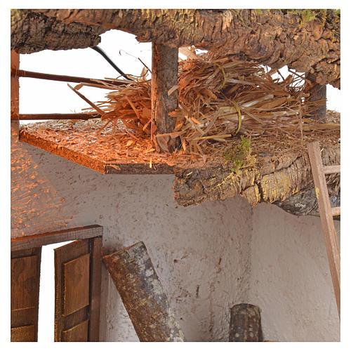 Capanna presepe legno sughero muschio cm 54x40x76 5