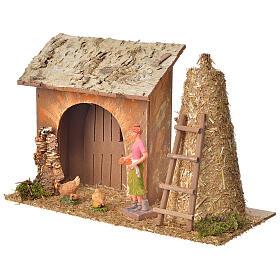 Casa contadina con galline e pagliaio 18x27x12 s2