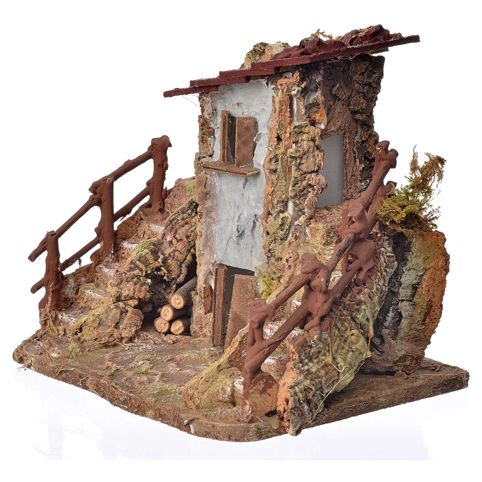 Casa rústica cm. 19 x 19 x 16 4