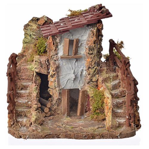 Casa rústica cm. 19 x 19 x 16 1