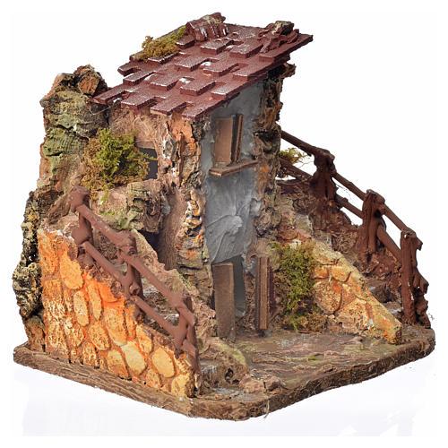 Casa rústica cm. 19 x 19 x 16 2