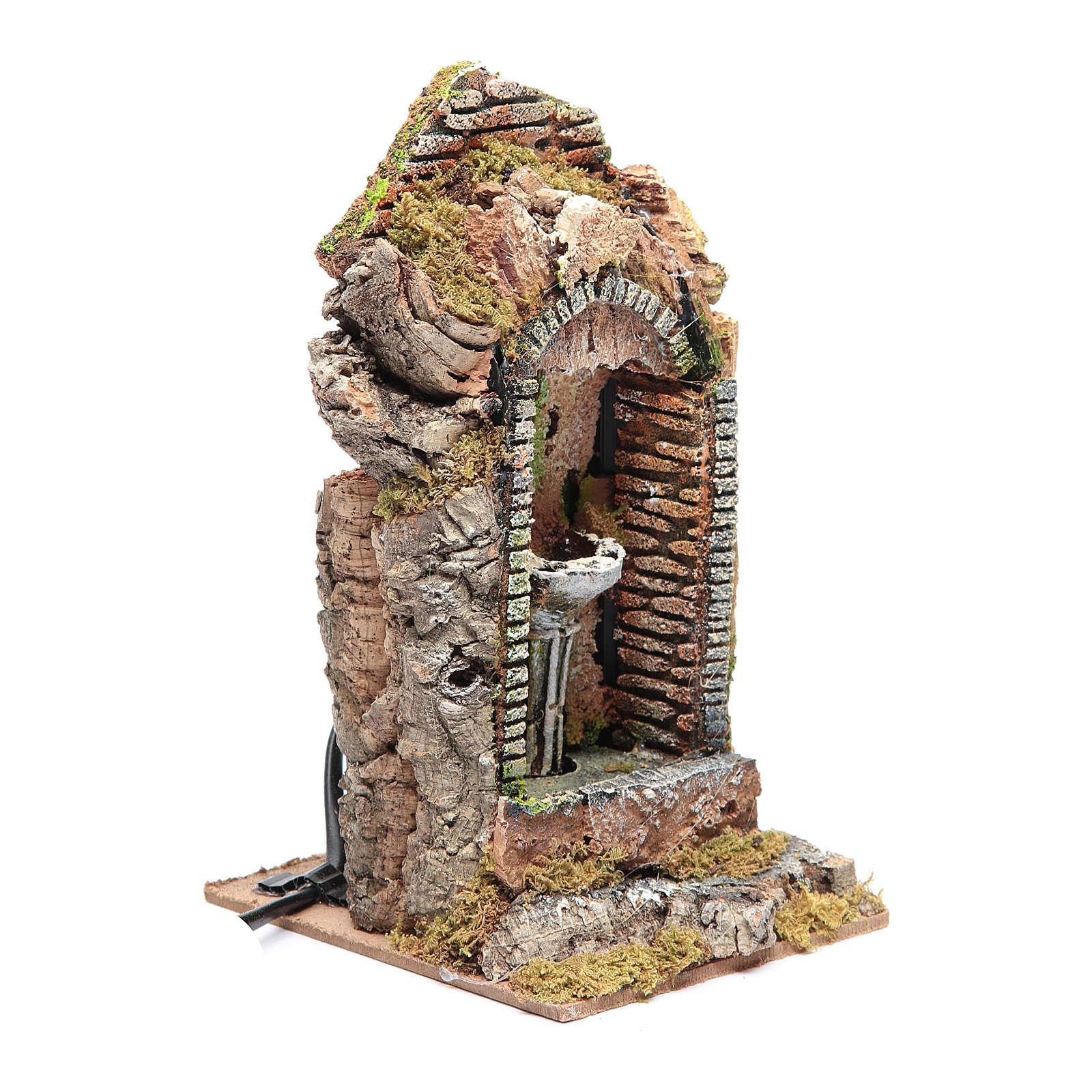 Fontaine dans niche pour crèche 24x11x11 4