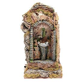 Nativity fountain in niche 24x11x11cm s1