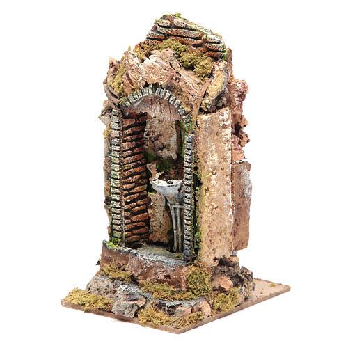 Nativity fountain in niche 24x11x11cm 2