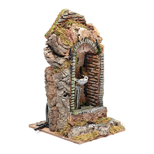 Nativity fountain in niche 24x11x11cm 3