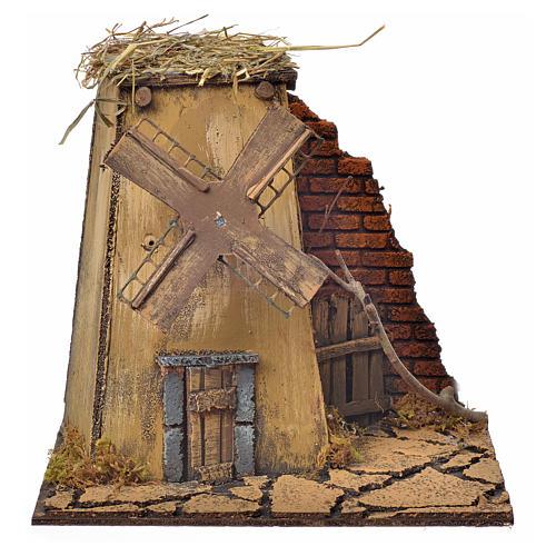 Neapolitan Nativity wind mill 23x17x11cm 1