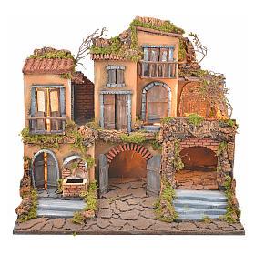 Escenografía belén napolitano estilo 700 con fuente y luz s1