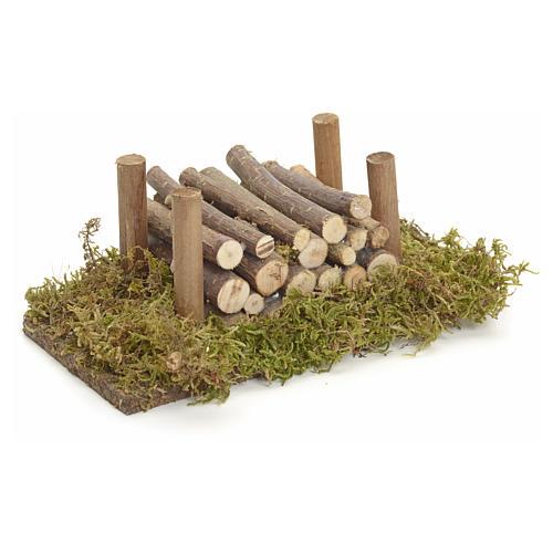 Nativity accessory, wood stack 2