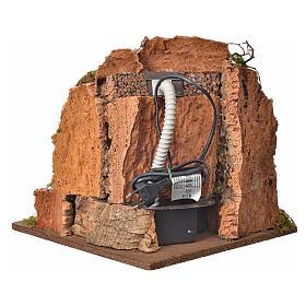 Cascata per presepe con pompa, ambientazione cm 30x32x30 s4