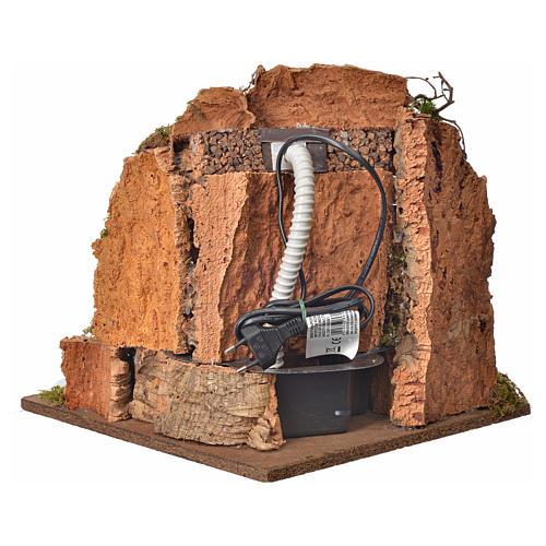 Cascata per presepe con pompa, ambientazione cm 30x32x30 4