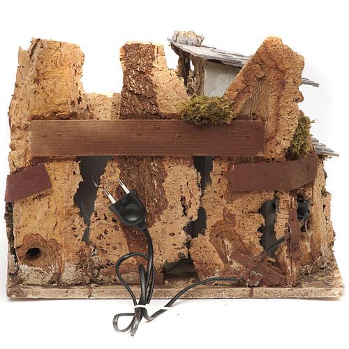 Bourg miniature crèche avec feu 28x38x28 cm 4