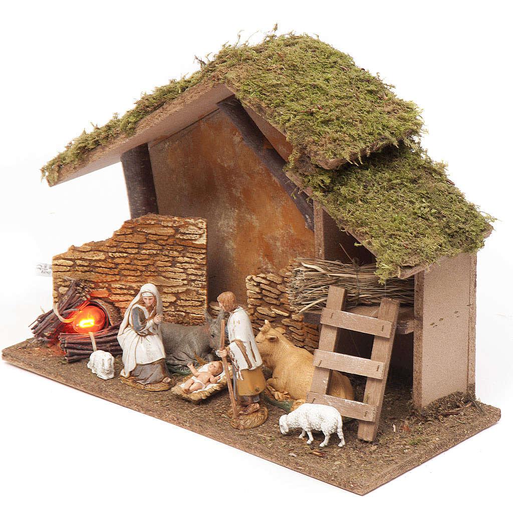 Cabane crèche avec feu 26x36x16 cm 4