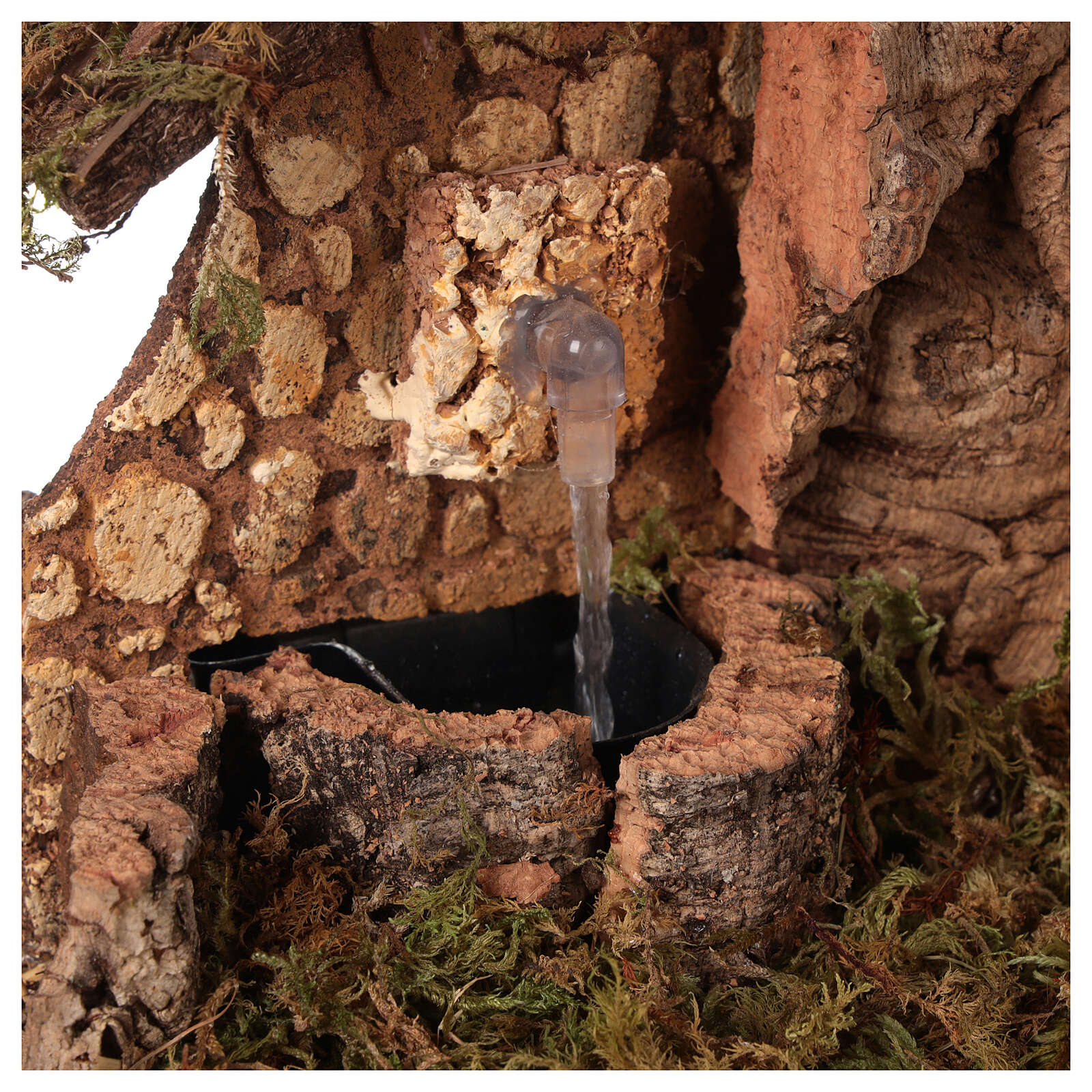 Capanna presepe con fontana e fienile cm 28x42x18 4