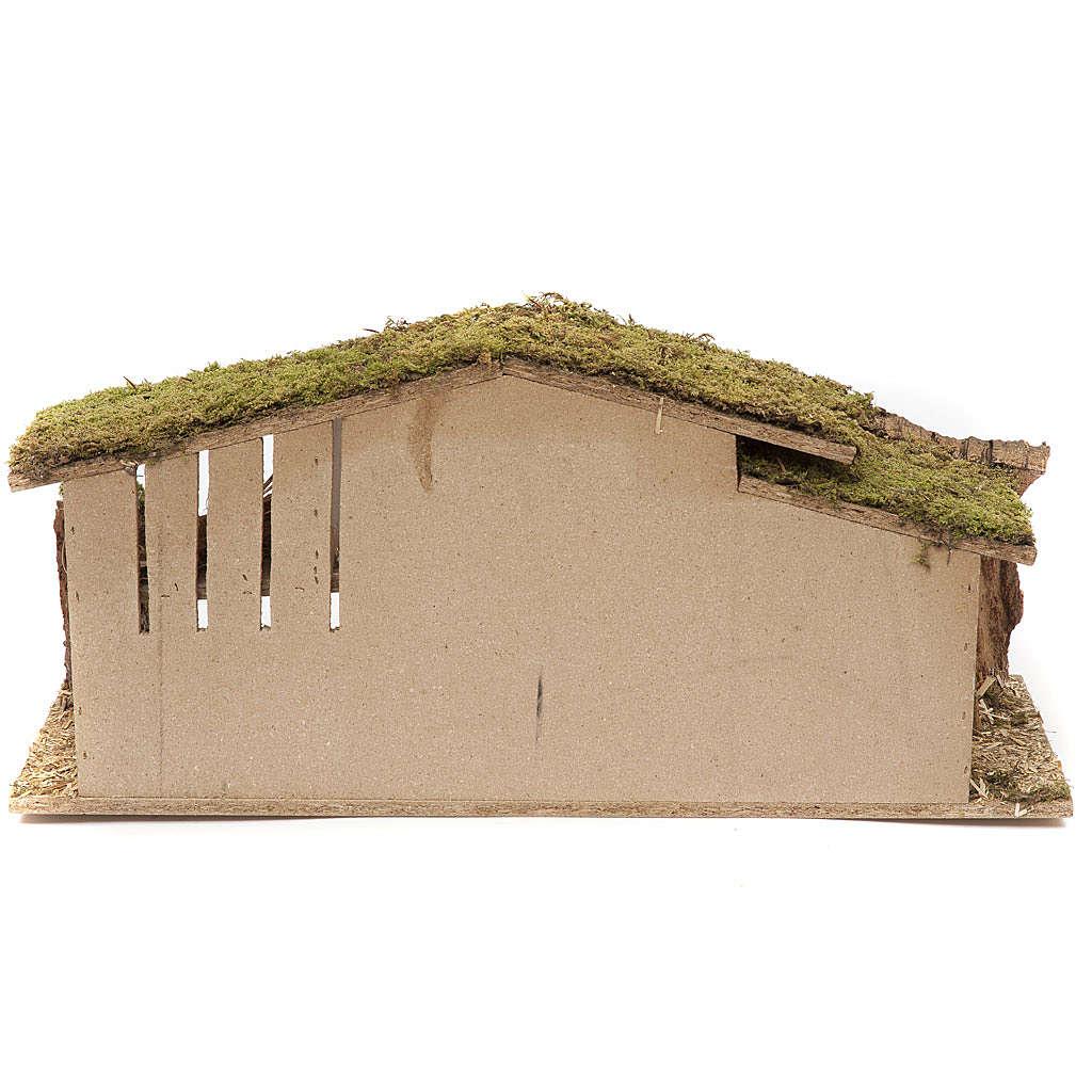 Capanna per presepe 25x56x21 in sughero legno paglia 4