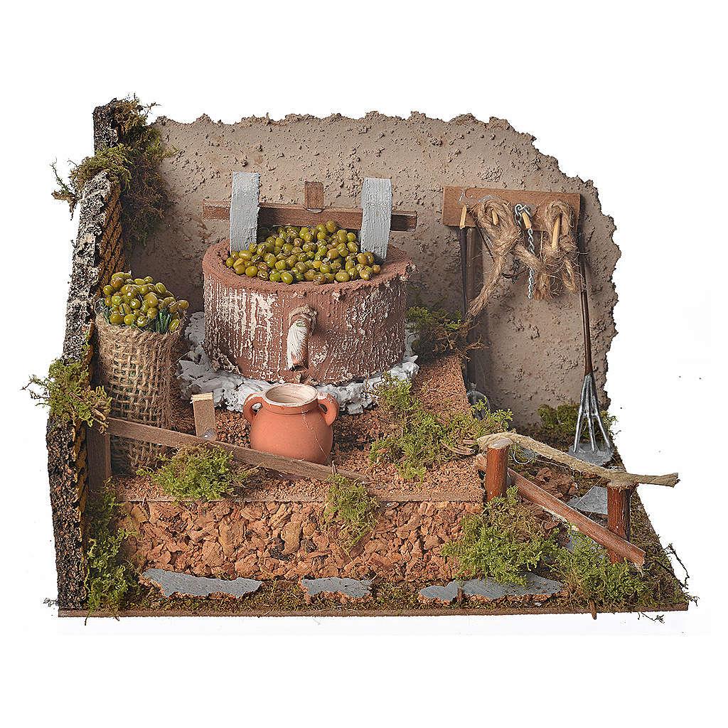 Macina oliva con pompa 24x12x17,5 4