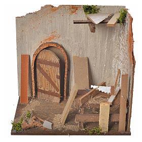 Nativity setting, carpenter's workshop 20x14x20cm s1