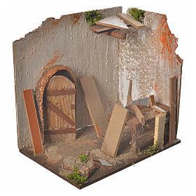 Nativity setting, carpenter's workshop 20x14x20cm s2