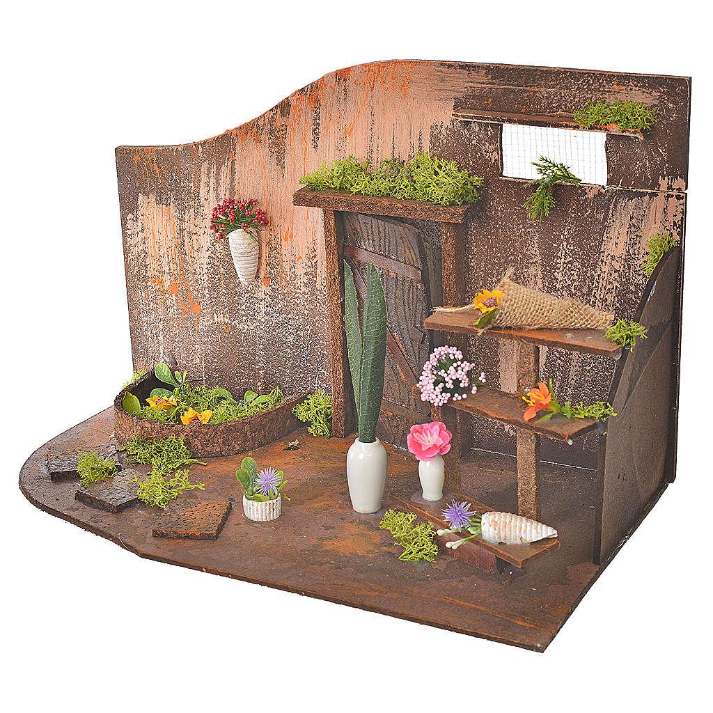 Atelier fleuriste crèche 20x14x20 cm 4