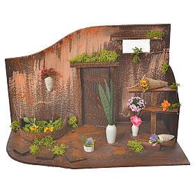 Atelier fleuriste crèche 20x14x20 cm s1