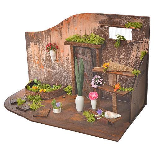 Atelier fleuriste crèche 20x14x20 cm 3