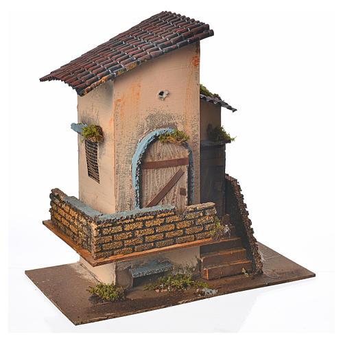 Landhaus Mit Balkon Und Treppe 28x15x27cm Online Verfauf