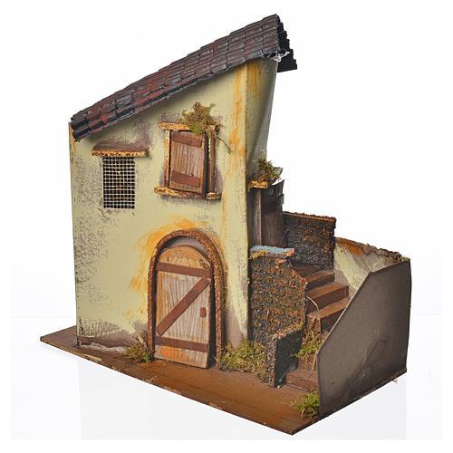 Gelb Landhaus Mit Treppe 28x15x27cm Online Verfauf Auf