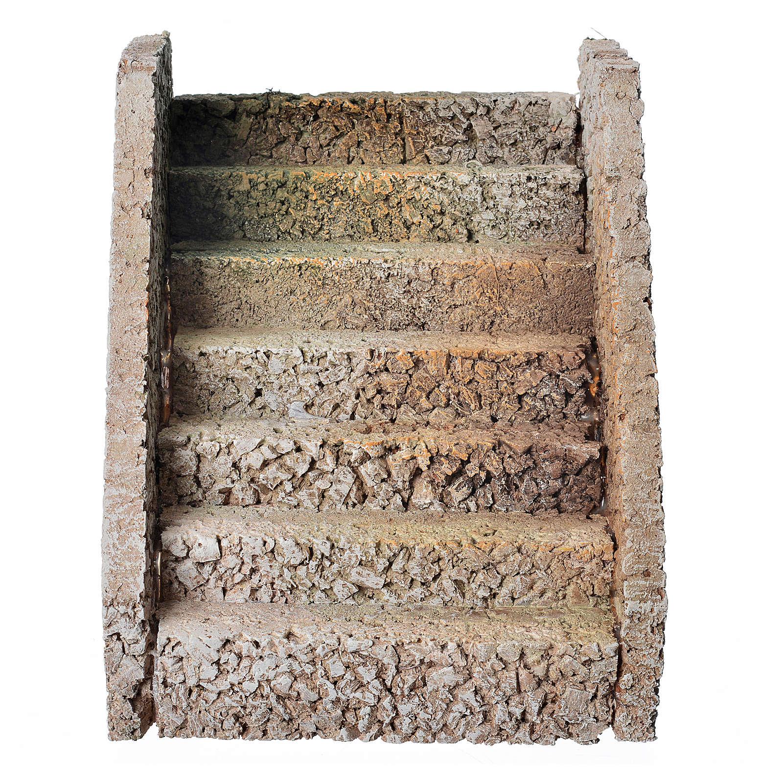 Escalera para belén estilo árabe en corcho 4