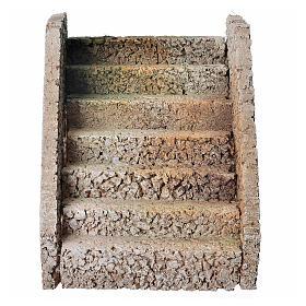 Escalera para belén estilo árabe en corcho s1
