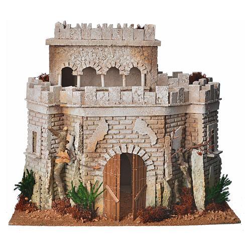 Castillo árabe para el belén en corcho 1