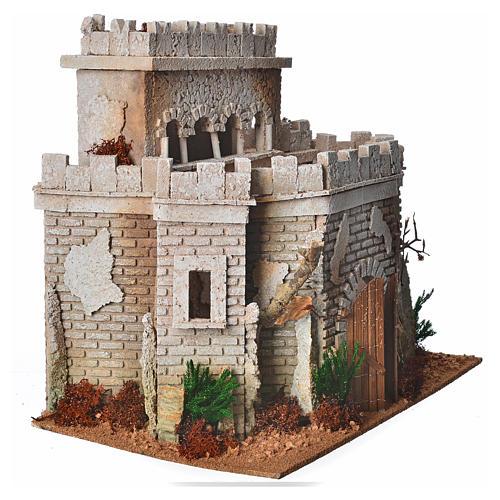 Castillo árabe para el belén en corcho 3