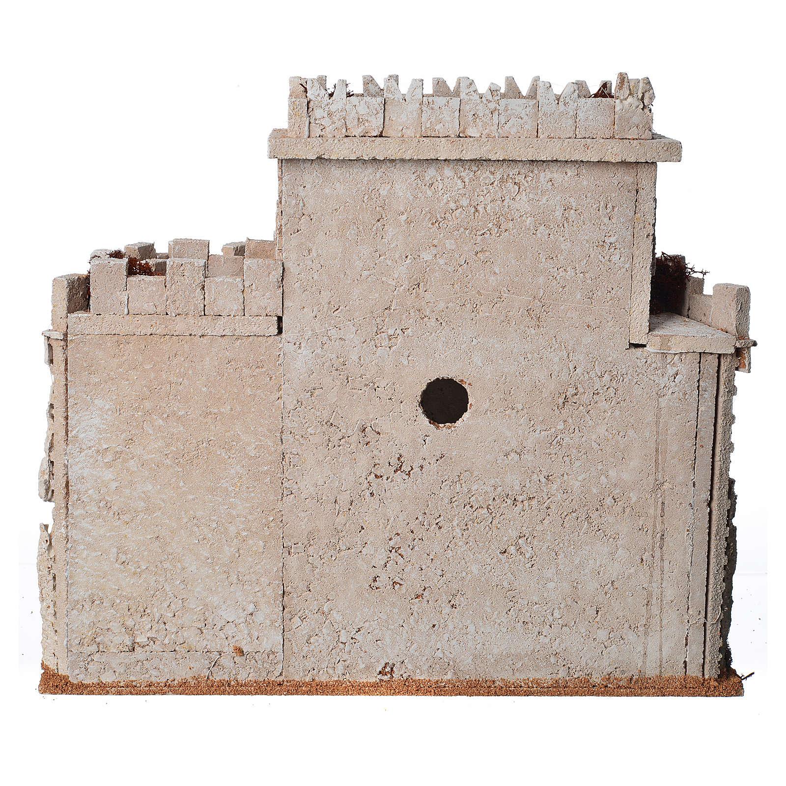 Château arabe en liège pour crèche 4