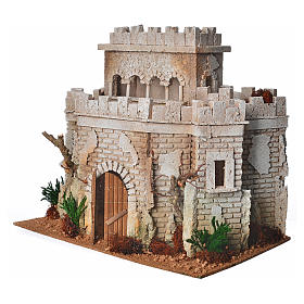 Château arabe en liège pour crèche s2