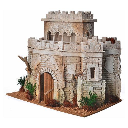 Château arabe en liège pour crèche 2