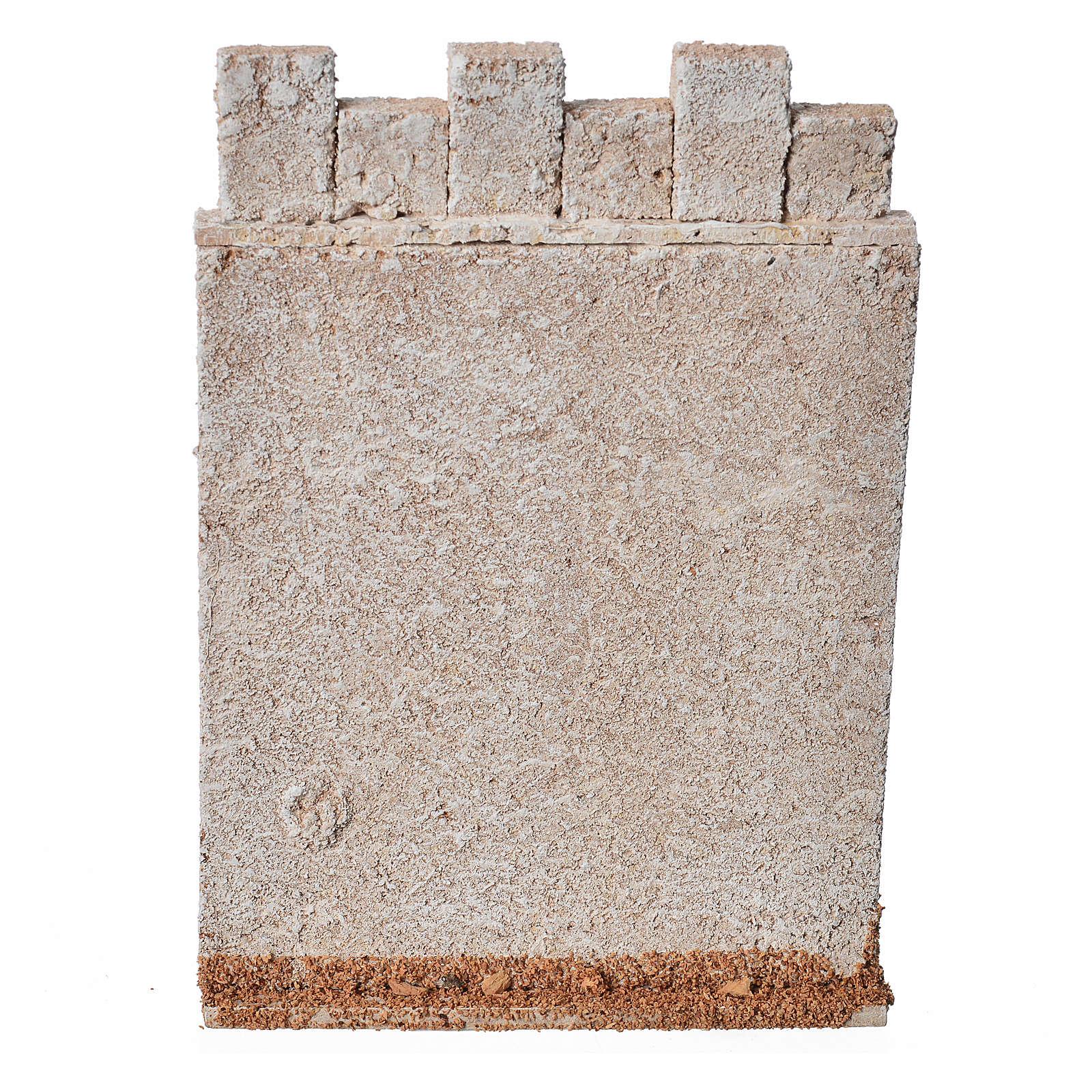 Mur d'enceinte de château en liège crèche 4
