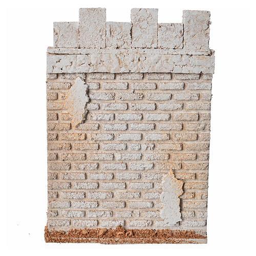Mur d'enceinte de château en liège crèche 1