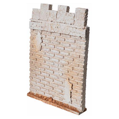 Mur d'enceinte de château en liège crèche 2