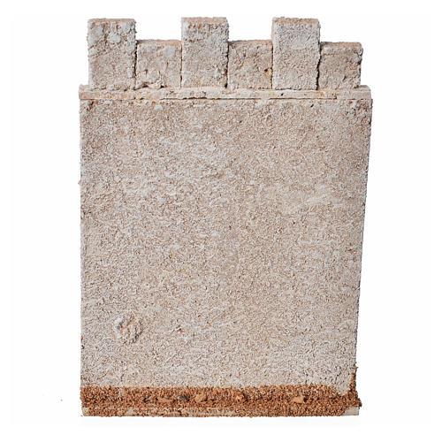 Mur d'enceinte de château en liège crèche 3