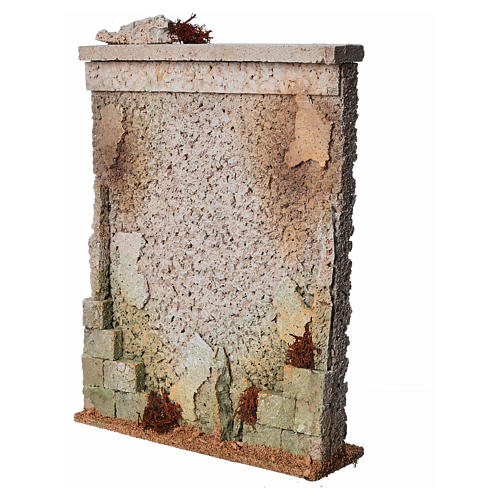 Muro di cinta presepe in sughero 2