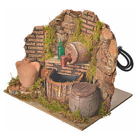 Nativity setting, tavern with pump and bottle 15x12x12cm s2