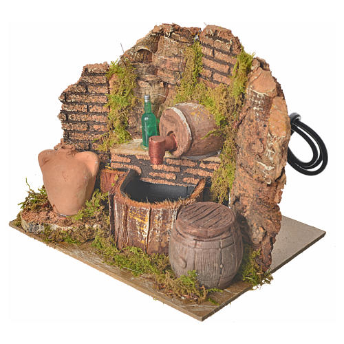 Nativity setting, tavern with pump and bottle 15x12x12cm 2